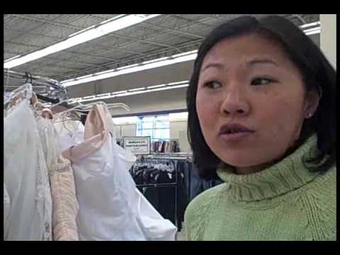 Shopping for a wedding dress at Goodwill