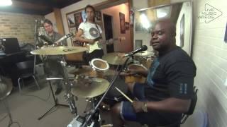 Kidum Kibido playing drums and singing rehearsing Duzibiganza Nitafanya Haturudi Nyuma 2016