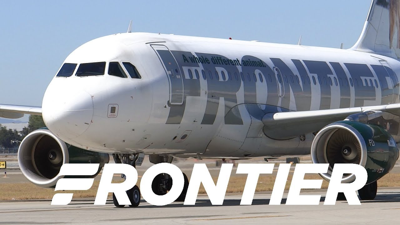 Download HD Frontier Airlines Airbus A319-111 N920FR Inaugural Takeoff from San Jose International Airport