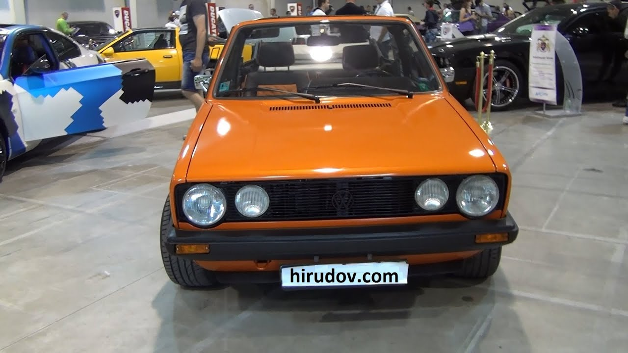 Volkswagen Golf Mk1 Tuned 1987 Exterior and Interior in 3D 4K