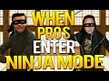 CS:GO - WHEN PRO PLAYERS ENTER SNEAKY/NINJA MODE!