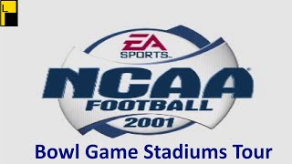 NCAA Football 2001 Bowl Game and Fictional Stadiums (4K60FPS)
