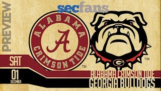 Alabama vs Georgia - SEC Championship 2018 - Preview & Predictions College Football