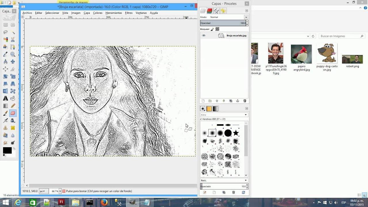 Hacer foto a dibujo con Gimp  YouTube