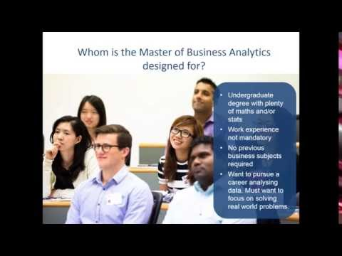 Master of Business Analytics Online Information Session - 16 August 2016