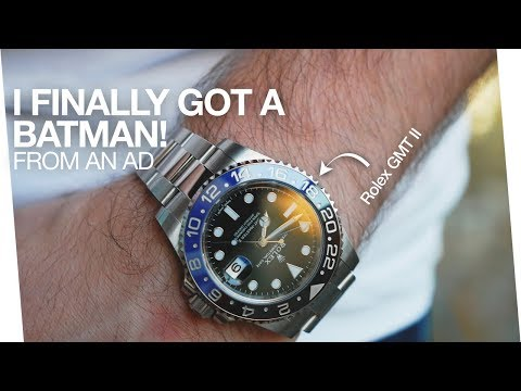 I finally got a Batman from the AD - Rolex GMT Master II BLNR