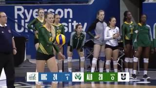 Gold 2017 U SPORTS Women's Volleyball Championship Presented by Jason Rinaldi Alberta vs UBC