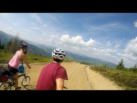 Cycle touring and traveling Romania