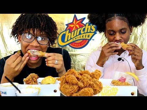 CHURCH'S CRISPY FRIED CHICKEN MUKBANG!  (KIDS EDITION)
