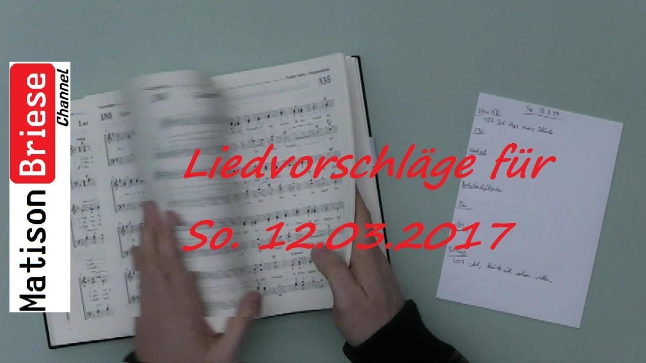 Liedvorschläge Gottesdienst