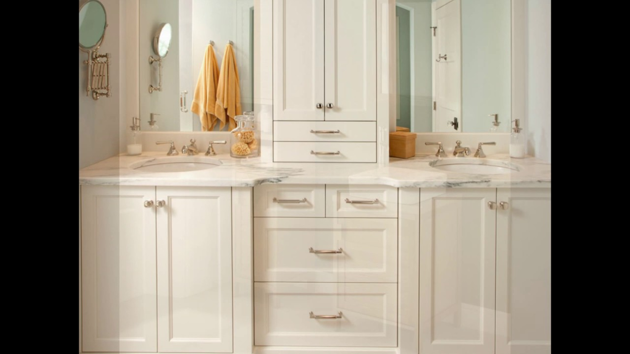 Freestanding Tall Bathroom Cabinet - bathroom wall cabinets - YouTube