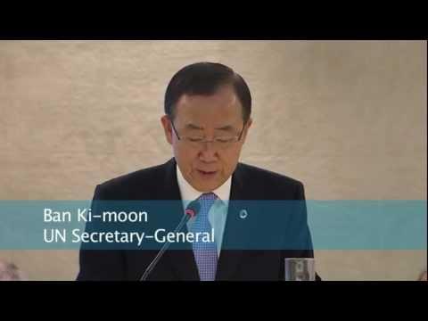 UN Secretary-General Ban Ki-moon demands for justice in Syria