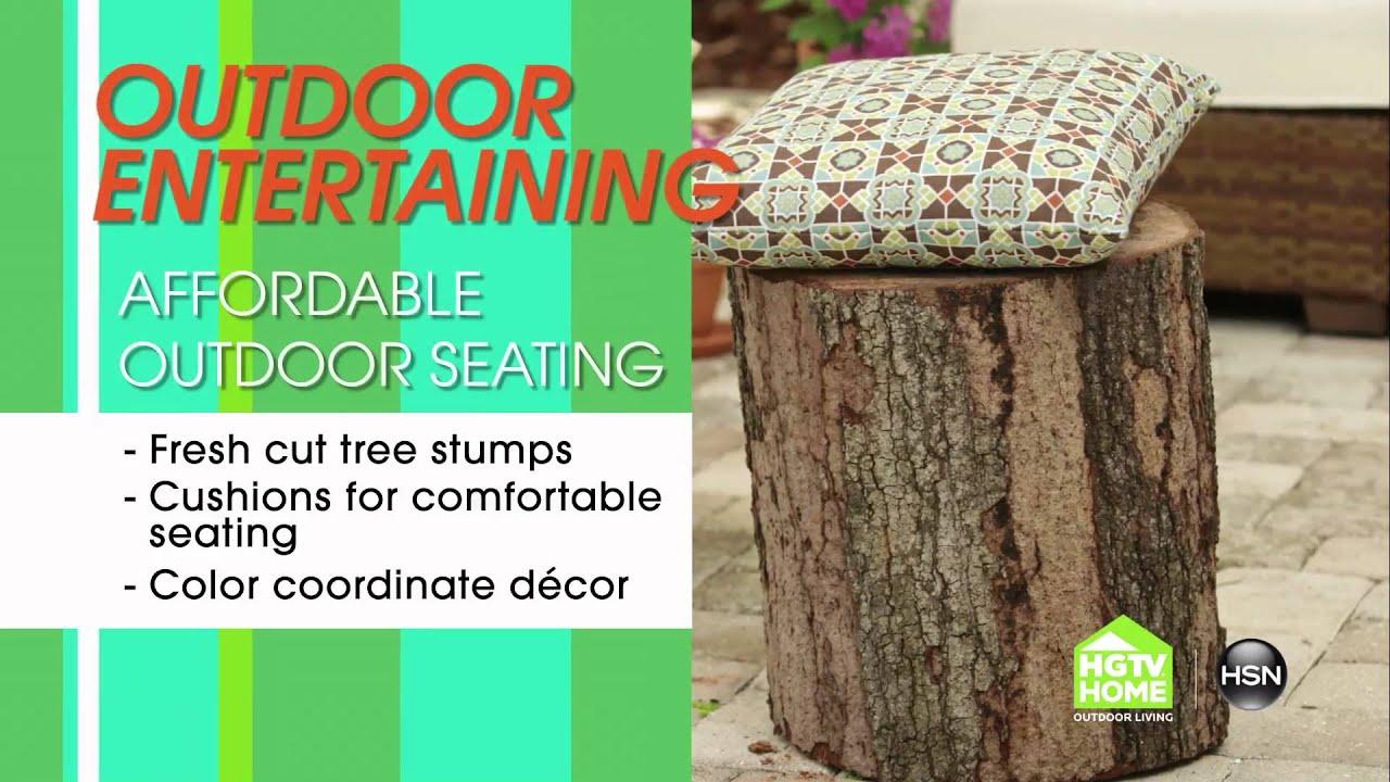 Tree Stump Seats Hsn Hgtvs John Gidding Tips Tree Stump Seats Youtube