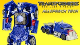 Transformers Allspark Tech Optimus Prime The Last Knight TLK Interactif Jouet Toy Review Hasbro