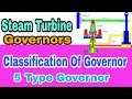 Turbine governors//Types Of governor//steam turbine governor// turbine protection & controls