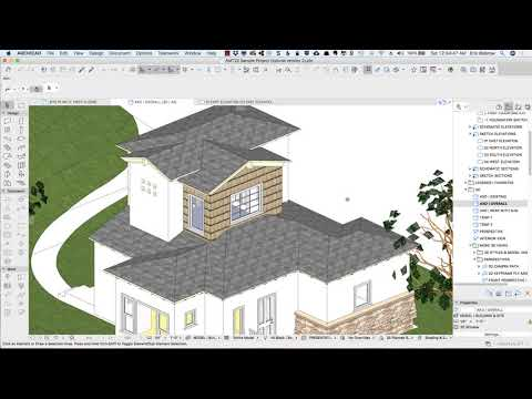 ARCHICAD Design | Views 2 – Rendered Elevations & Site Plans