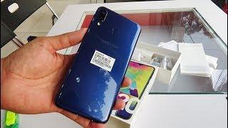 Unboxing Samsung Galaxy M20 Ocean blue color