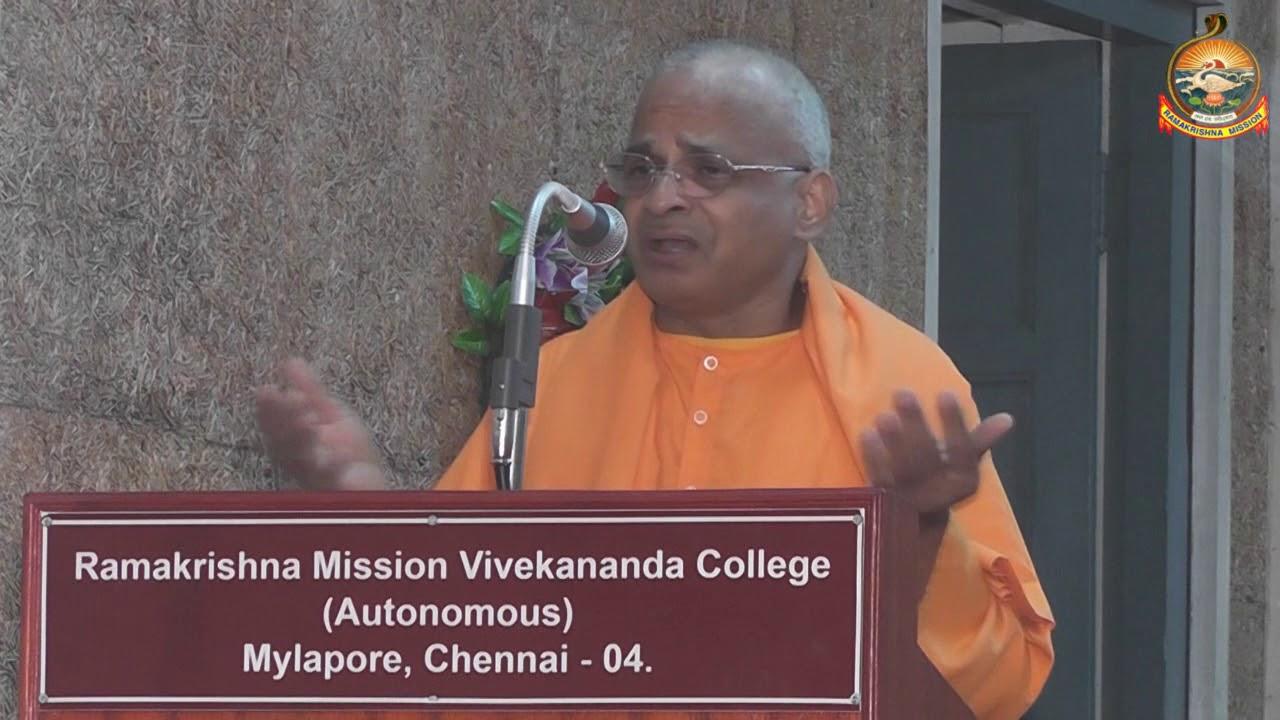 Swami Tatvamayanandaji Mj Addressing RKM Vivekananda  College, Chennai -04