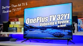 OnePlus TV 32inch Unboxing & Review in Hindi   OnePlus TV 32Y1 Picture Quality & Sound Output