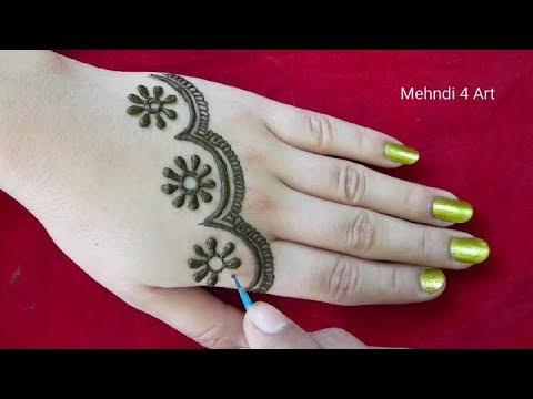 Simple mehndi design back hand | henna design | Simple easy mehndi design