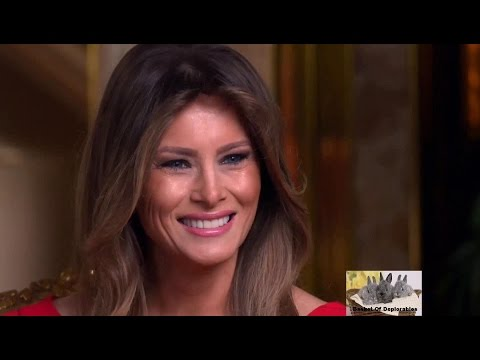 HD P8 - First Lady Melania Trump - Donald Trump The 45th President 60 Minutes Interview Leslie Stahl