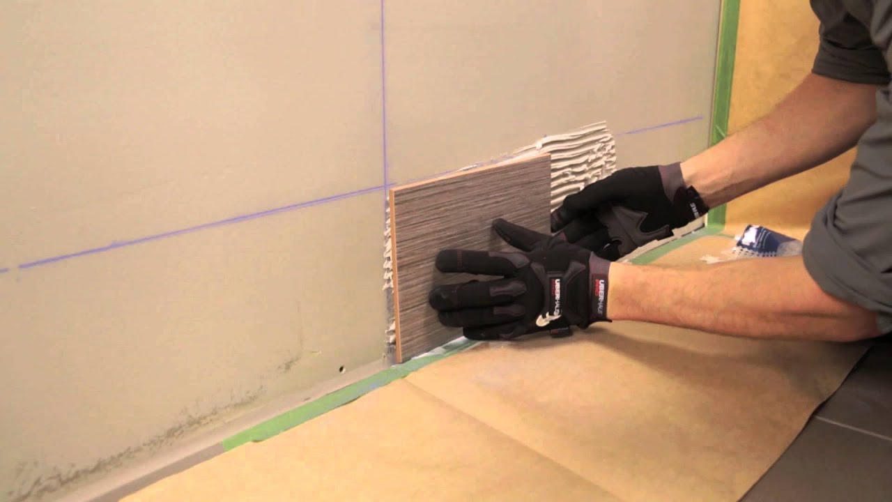 RONA How To Install Wall Tiles YouTube - Tiling a bathroom floor where to start