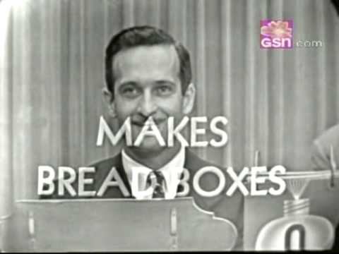 "Bread Box Maker on ""What's My Line?"""