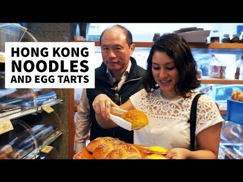 Hong Kong Noodles and Egg Tarts