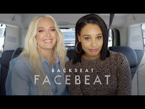 RHOBH's Erika Jayne Talks Pretty Mess, New Too Faced Line, & Puppygate on Back Seat Face Beat | ELLE