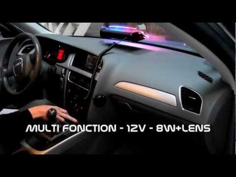 FEUX DE PENETRATION PATROUILLEUR LED 48W STROBE WAY PATROL6 FLASH PARE BRISE 12V