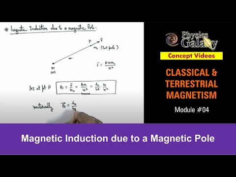 4. Physics   Terrestrial Magnetism   Magnetic Induction due to a Magnetic Pole   by Ashish Arora