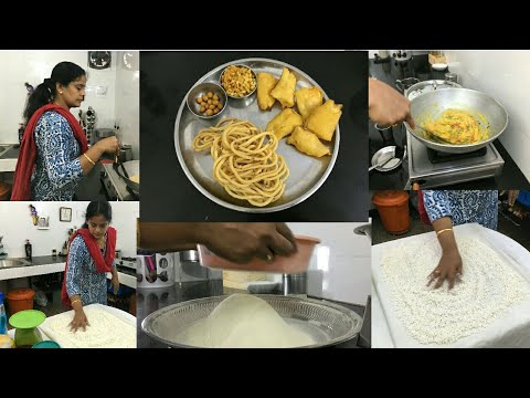 My Mid Morning Routine Vlog/Bajji Maavu/Thenkuzhal Maavu/Vazhakkai Bajji/Thenkuzhal/Rava Kichidi