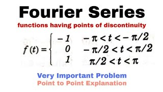 10. Fourier Series | Discontinuity | Problem 4 | Complete Concept