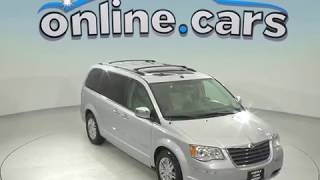 R95981JA Used 2008 Chrysler Town & Country Passenger Mini Van Silver Test Drive, Review, For Sale