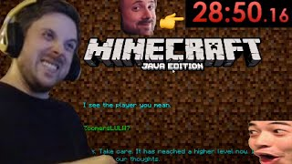 FORSEN FINALLY BEATS XQC'S MINECRAFT RECORD! - Forsen Minecraft Speedrun (with chat)