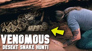 VENOMOUS SNAKE HUNT AT 150 DEGREES IN THE DESERT! LUCKY WE SURVIVED!! | BRIAN BARCZYK