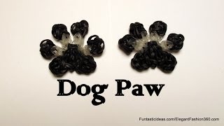 Rainbow Loom Dog/Cat/Pet Paw Print charm - How to