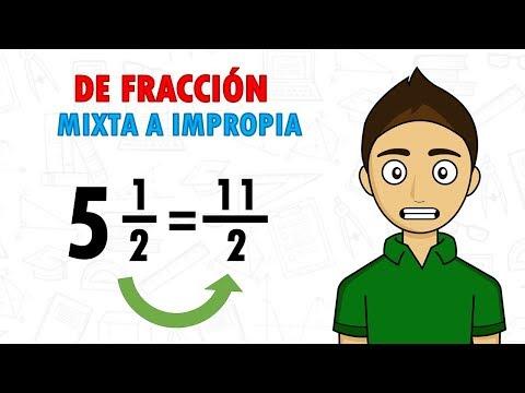 convertir-fracciÓn-mixta-a-impropia-super-facil---para-principiantes