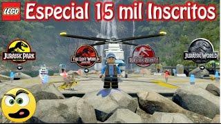 LEGO Jurassic World - Especial 15 mil Inscritos - Passeando por todas as ilhas (Fazendo um Tour)