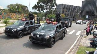 Desfile das Viaturas da PMPR, Polícia Civil e Guarda Municipal