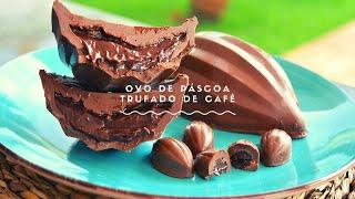 CURSO DE PÁSCOA -  OVO DE PÁSCOA  TRUFADO DE CAFÉ