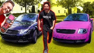 Spray Painting My Friends Car Pink *Prank*