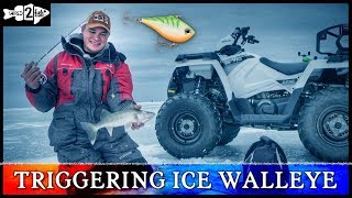 Targeting Early Ice Walleyes with Lipless Crankbaits