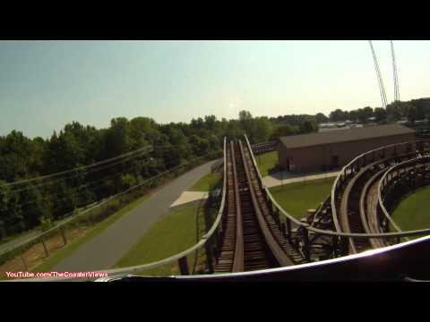 Hurler POV Front Carowinds Carolina Wooden Roller Coaster