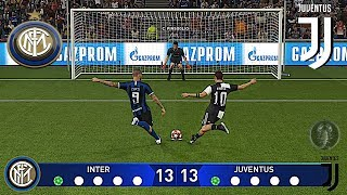 Inter Vs Juventus • UEFA Champions League (Calci di Rigore) • PES 2019 Patch New Adboards R2 [Giù]