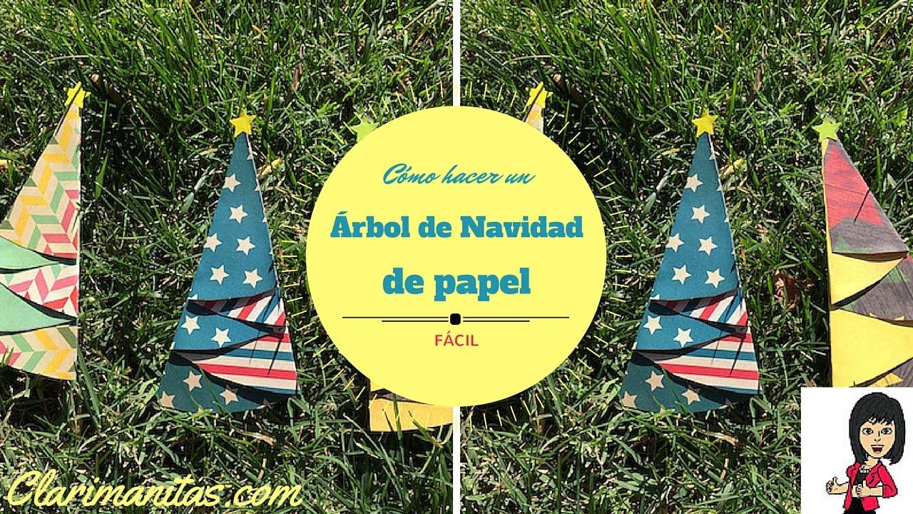 Arbol navidad de papel youtube - Arboles de navidad de papel ...
