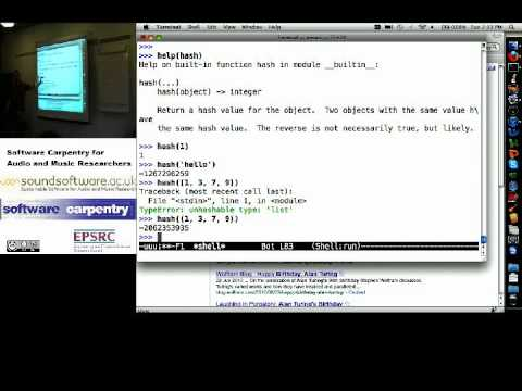 Dictionaries in Python - hash functions (Software Carpentry)