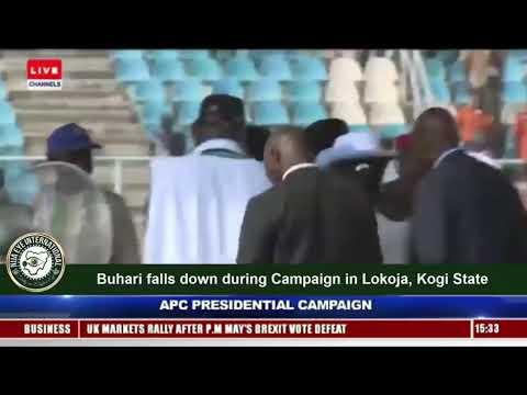 Buhari Fall During APC Presidential Rally in Lokoja Kogi State [WATCH FULL VIDEO]