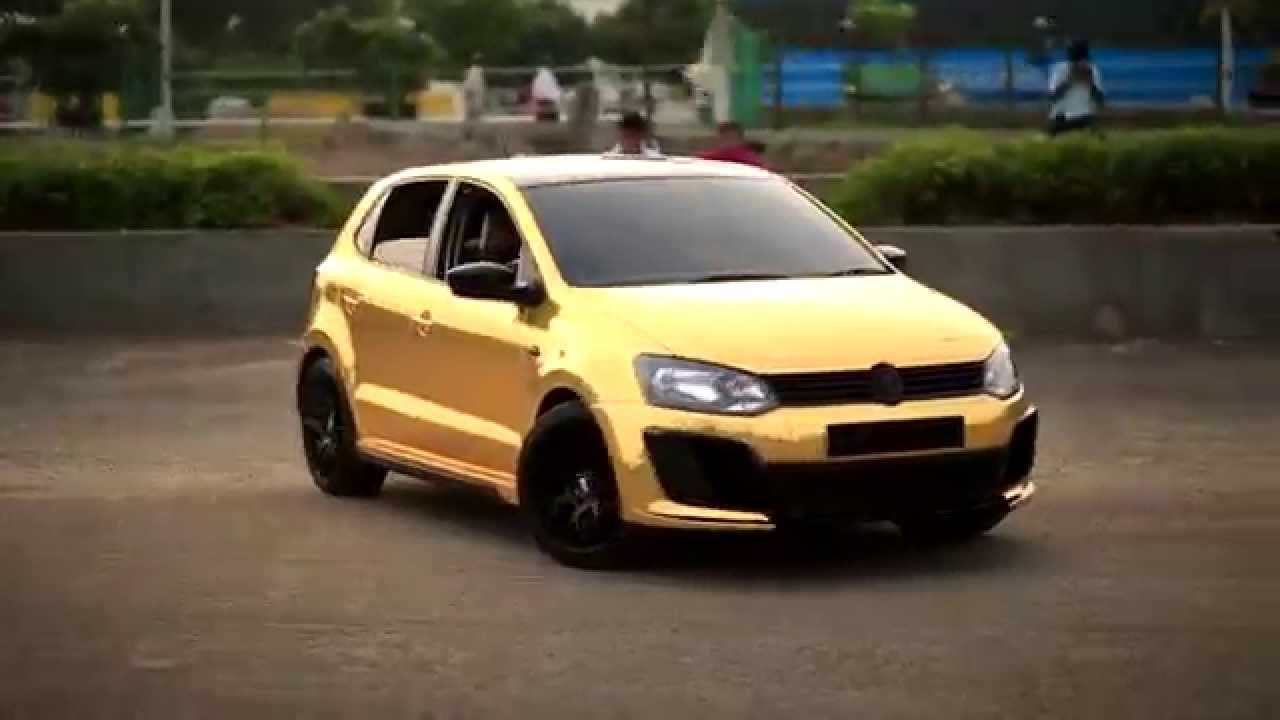 Wrapping Of Polo In Gold Chrome Youtube