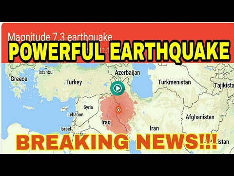 Earthquake Iran and Iraq today 7 5 Magnitude by Breaking News